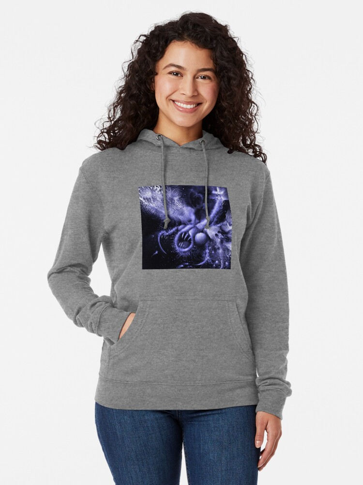Alternate view of TIME AERIALS Squamafly Blue Lightweight Hoodie
