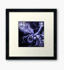 TIME AERIALS Squamafly Blue Framed Print
