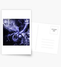 TIME AERIALS Squamafly Blue Postcards