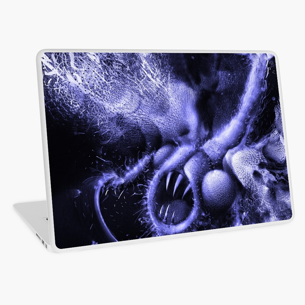 TIME AERIALS Squamafly Blue Laptop Skin