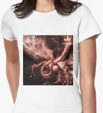 TIME AERIALS Squamafly Red Women's Fitted T-Shirt