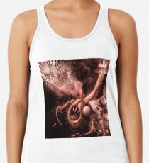 TIME AERIALS Squamafly Red Racerback Tank Top
