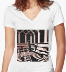 TIME AERIALS The Mind Library Women's Fitted V-Neck T-Shirt