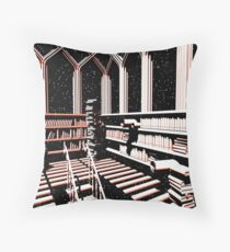 TIME AERIALS The Mind Library Throw Pillow