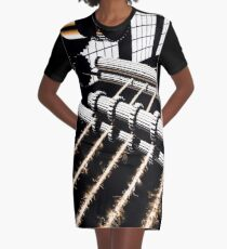TIME AERIALS Industrial Revolutions Graphic T-Shirt Dress
