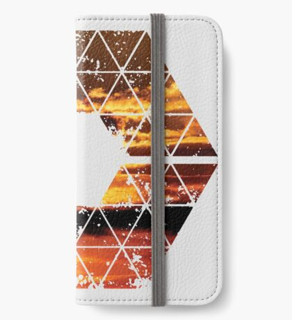 C is for CLOUDS - Geometric Abstract Sunset Geometry Art iPhone Wallet