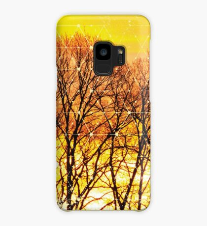 Nature and Geometry - Trees and Sunset Case/Skin for Samsung Galaxy