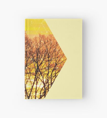 Nature and Geometry - Trees and Sunset Hardcover Journal