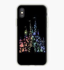 Vinilo o funda para iPhone El castillo más feliz de la tierra (explosión de arco iris)