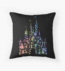 Happiest Castle On Earth (Rainbow Explosion) Throw Pillow