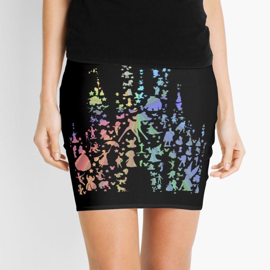 Happiest Castle On Earth (Rainbow Explosion) Mini Skirt