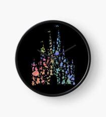 Happiest Castle On Earth (Rainbow Explosion) Clock