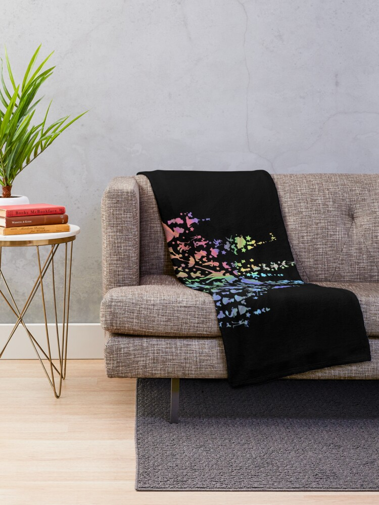 Alternate view of Happiest Castle On Earth (Rainbow Explosion) Throw Blanket