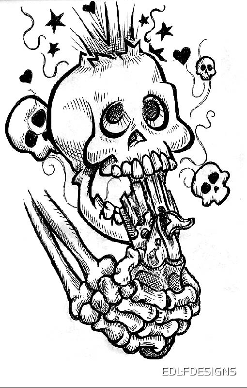 TATTOO DESIGNS SUICIDE SKULLS by EDLFDESIGNS