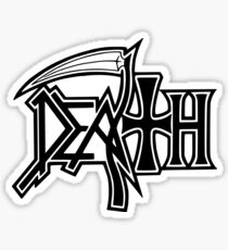 Band Death Logo Black (Clean Version) Sticker