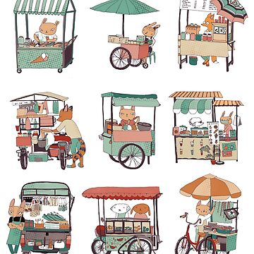Food vans of Thailand by surfingsloth