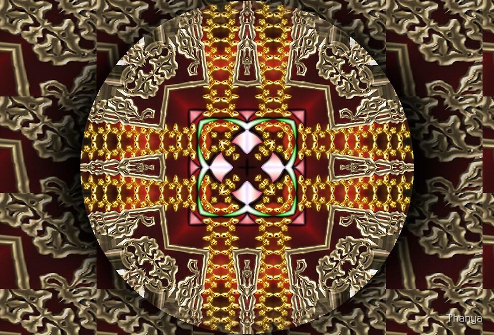 Red Mandala by Thanya