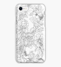 Hibiscus Infinity - Ink Simple Ink Lines iPhone Case/Skin