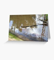 Oil On The Water:NOLA Oil Spill Greeting Card