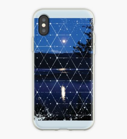 Nature and Geometry - The Moon iPhone Case