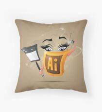 Fun Icon Adobe Illustrator Throw Pillow