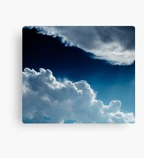 Sky, clouds and lights. Canvas Print