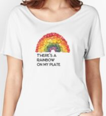 rainbow on my plate - fruits and vegetables  Women's Relaxed Fit T-Shirt