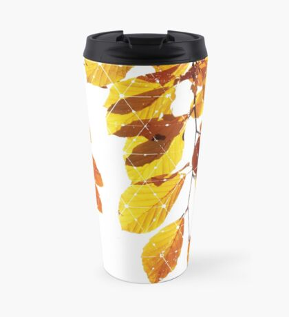Nature and Geometry - Yellow Leaves  Travel Mug