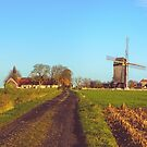 Landscape with windmill in Huise, Belgium  by 7horses