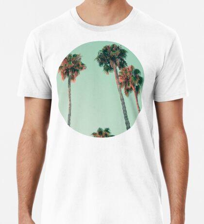 Palmen bei Sonnenuntergang Premium T-Shirt
