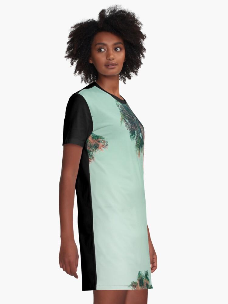 Alternative Ansicht von Palmen bei Sonnenuntergang T-Shirt Kleid