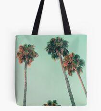 Palmen bei Sonnenuntergang Tasche