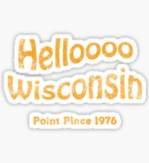 Hello Wisconsin vintage Sticker