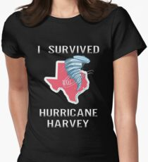 I Survived Hurricane Harvey Women's Fitted T-Shirt