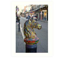 Horse Hitch Art Print