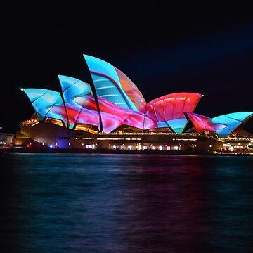 Opera House - Sydney at night - Vivid by Nathanxd33