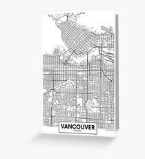 Vector poster map city Vancouver Greeting Card