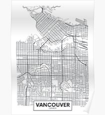 Vector poster map city Vancouver Poster