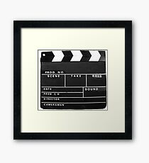 clapper board Framed Print