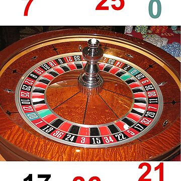 Roulette casino wheel chips and numbers by TomConway