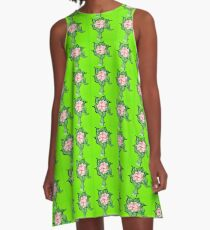 Scribblertoo Rose A-Line Dress