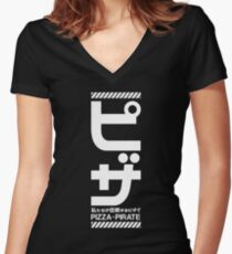 In Pizza We Trsut! Black Women's Fitted V-Neck T-Shirt