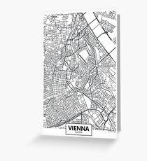Vector poster map city Vienna Greeting Card