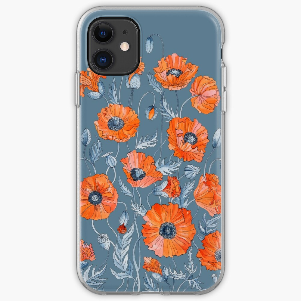Poppies Floral Botanical art iPhone Case & Cover