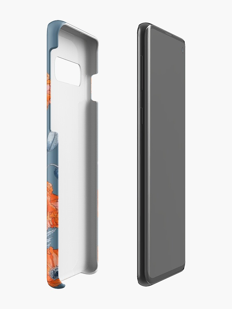 Alternate view of Poppies Floral Botanical art Cases & Skins for Samsung Galaxy