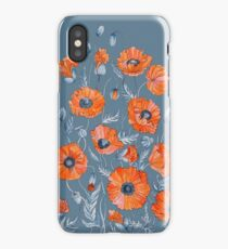 Poppies Floral Botanical art iPhone Case