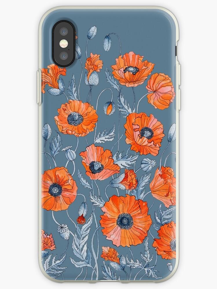 Poppies Floral Botanical art by Ruta Dumalakaite