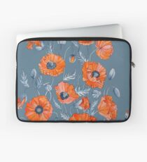 Poppies Floral Botanical art Laptop Sleeve