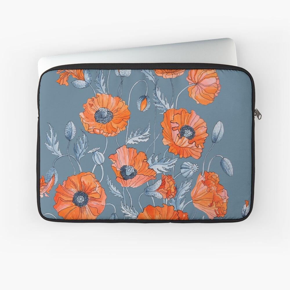 Poppies Floral Botanical art Laptop Sleeve