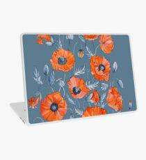 Blumen botanische Kunst der Mohnblumen Laptop Folie